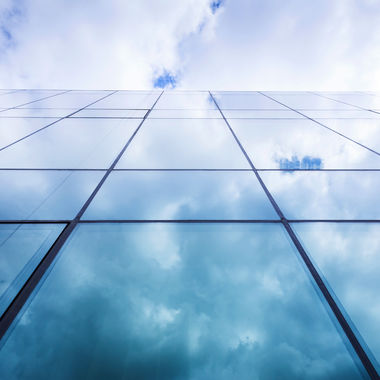 building glass sky