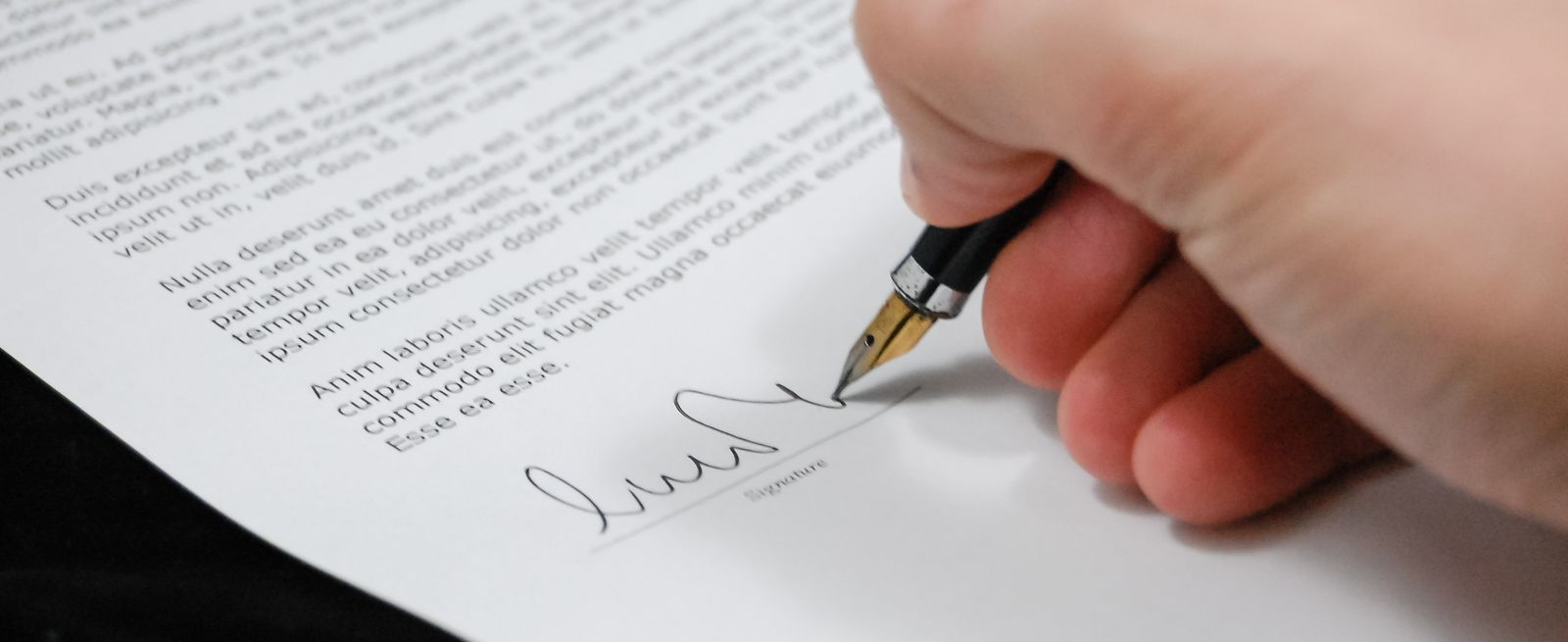 sign document agreement