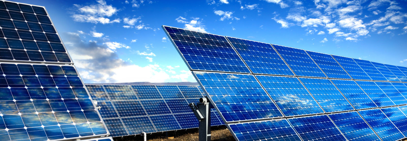 Solar Panels collecting energy from sun