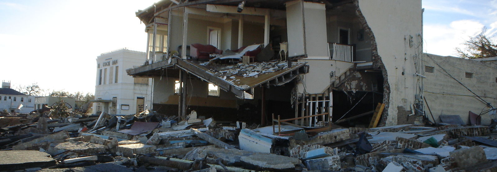 house destroyed from hurricane katrina